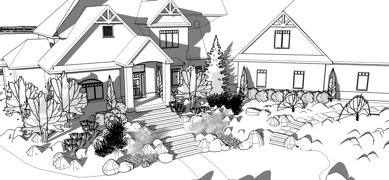 3D Landscape Modeling Design Northern Michigan