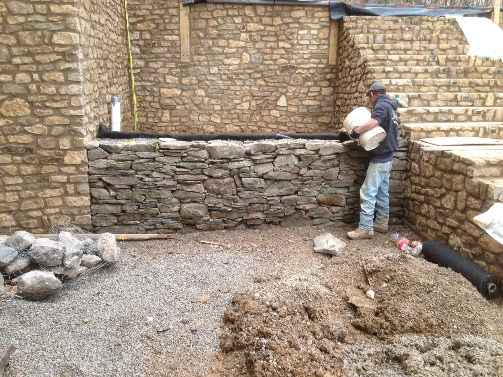 Dry Laid Colonial Retaining Wall Petoskey Michigan