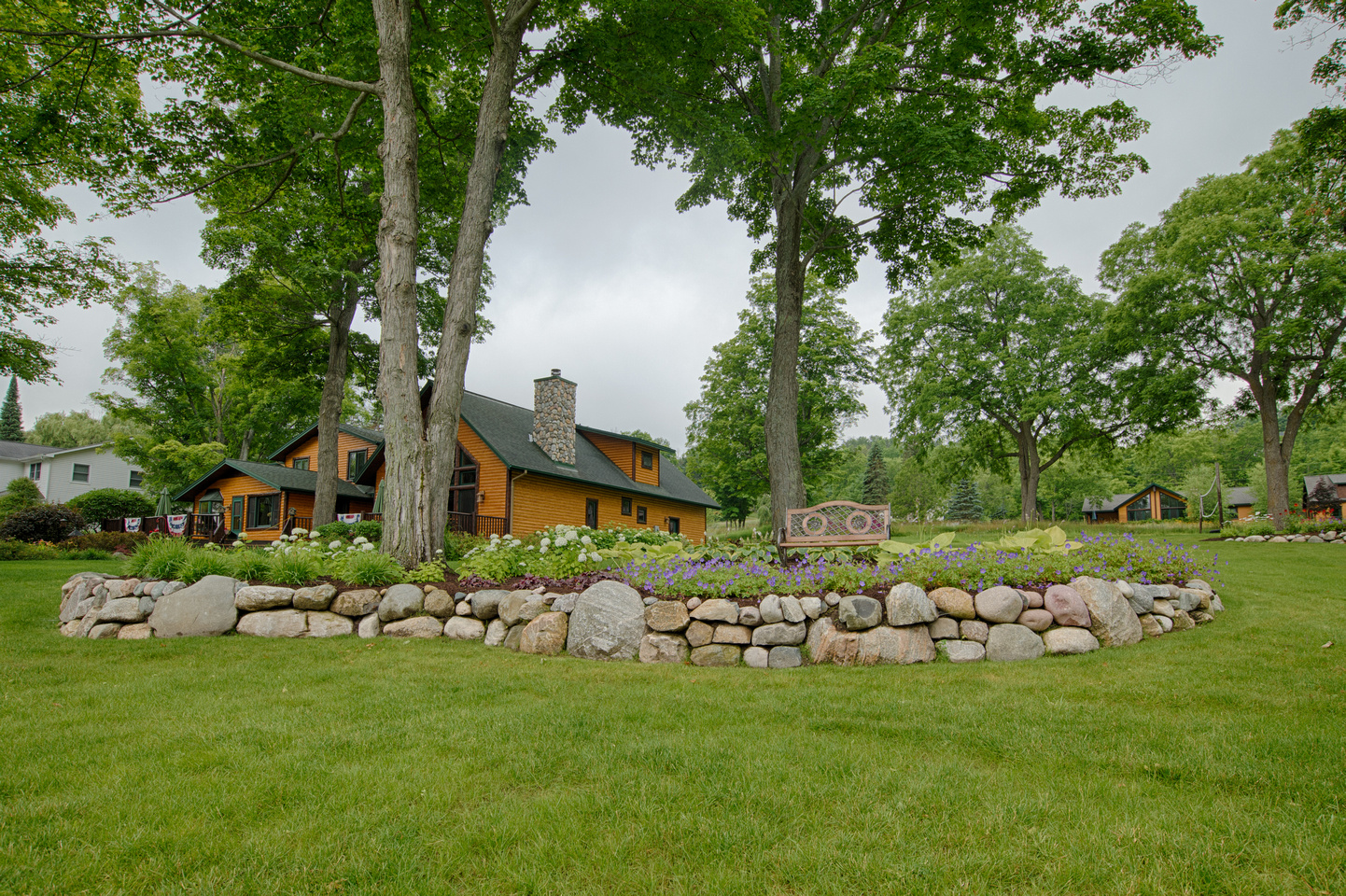 Fieldstone Retaining Wall Design Walloon Lake Michigan