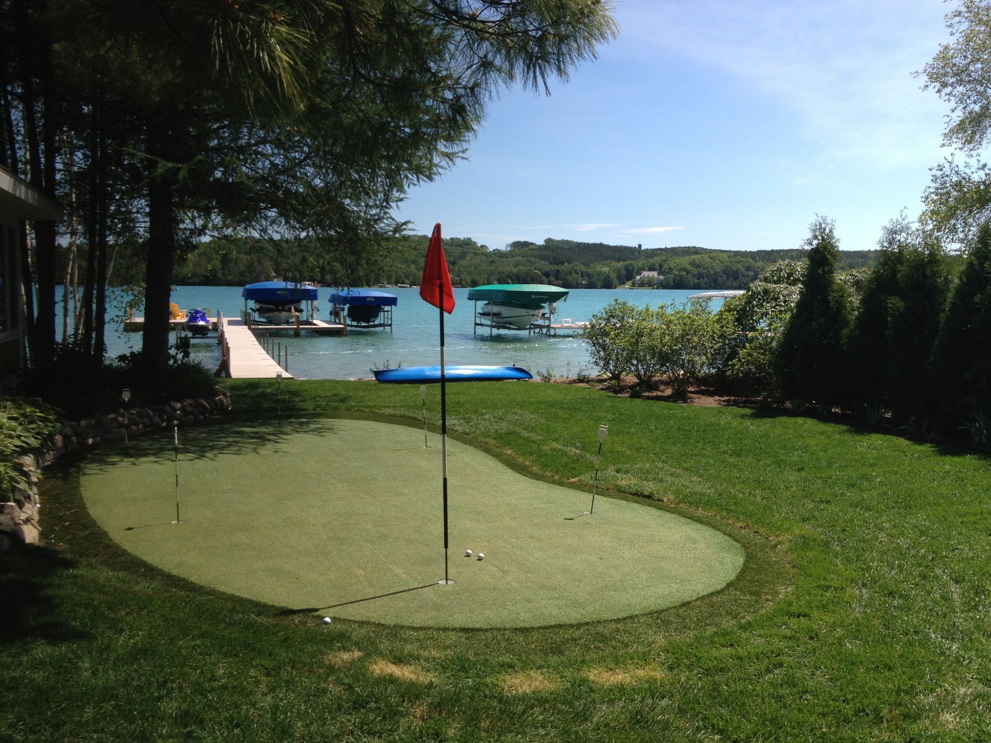 Lakeside Putting Green Landscape Design Northern Michigan