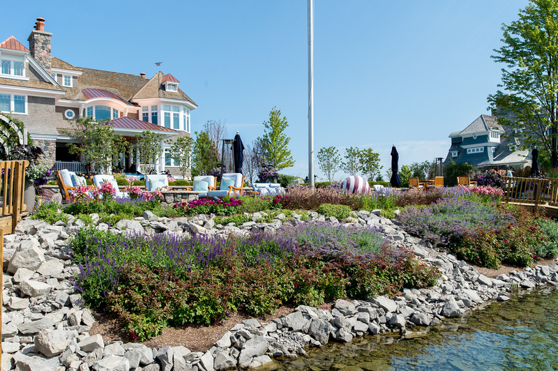 Plantings to Preserve and Soften a Rip Rap Shoreline in Bay Harbor Michigan