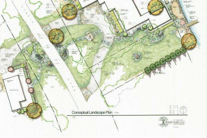 Hand Renderings Of Landscape Design Vidosh North